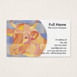 Taurus Zodiac Business Card