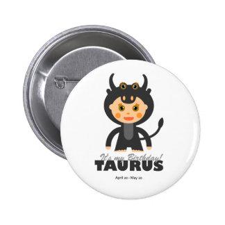 Taurus Zodiac for Kids Pin