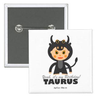 Taurus Zodiac for Kids Buttons