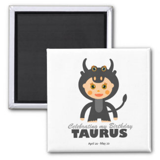 Taurus Zodiac for Kids Magnet