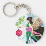 Taurus Zodiac Geisha Keychain