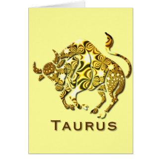 Taurus Zodiac Greeting Card