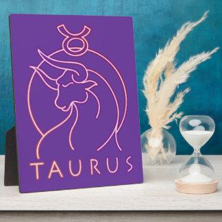 Taurus zodiac horoscope plaque