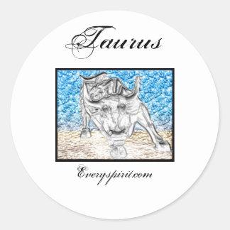 Taurus Zodiac Items Classic Round Sticker