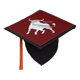 Taurus Zodiac Maroon Graduation Cap Topper