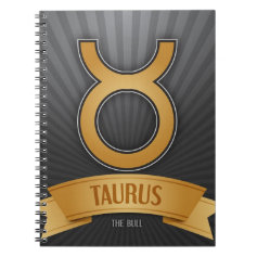 Taurus Zodiac Notebook
