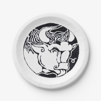 Taurus - Zodiac  Party plate