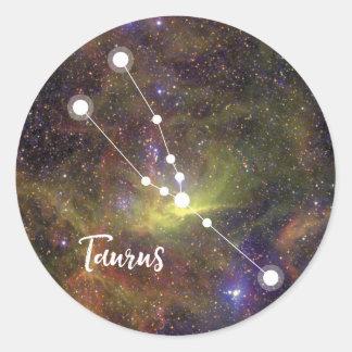 Taurus Zodiac Sign, April 20 - May 20 Classic Round Sticker
