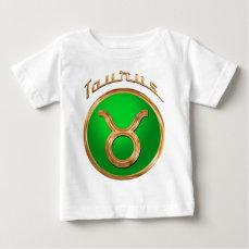 Taurus Zodiac Sign Baby T-Shirt