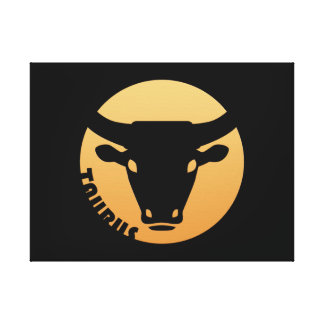 Taurus Zodiac Sign Stretched Canvas Print