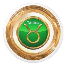 Taurus Zodiac Sign Ceramic Knob