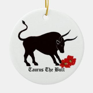 Taurus Zodiac Sign Ceramic Ornament