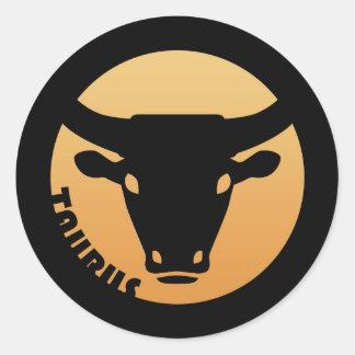 Taurus Zodiac Sign Classic Round Sticker