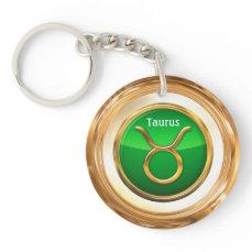 Taurus Zodiac Sign Keychain