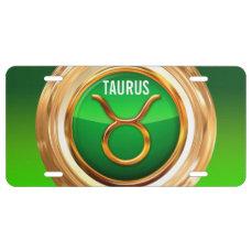Taurus Zodiac Sign License Plate
