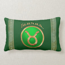 Taurus Zodiac Sign Lumbar Pillow