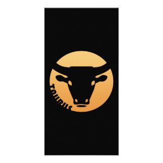Taurus Zodiac Sign Picture Card