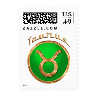 Taurus Zodiac Sign Postage Stamp