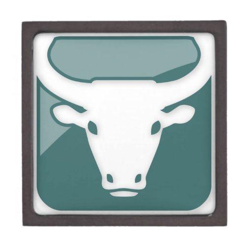 Taurus Zodiac Sign Premium Keepsake Boxes