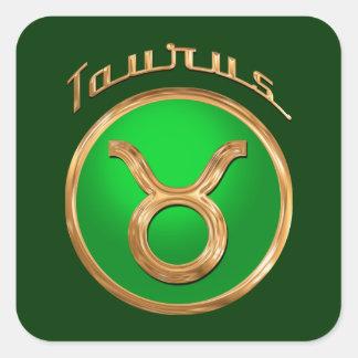 Taurus Zodiac Sign Square Sticker