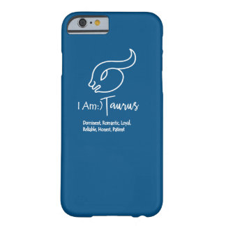 Taurus Zodiac Sign The Bull Snorkel Blue Barely There iPhone 6 Case