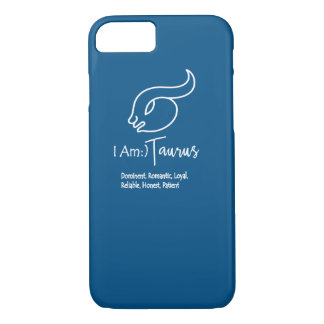 Taurus Zodiac Sign The Bull Snorkel Blue iPhone 8/7 Case