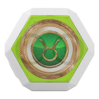 Taurus Zodiac Sign White Bluetooth Speaker
