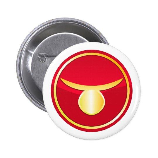 Taurus - Zodiac Signs Pinback Button