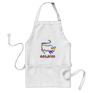 Taurus Zodiac Star Sign Color Line Adult Apron