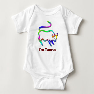 Taurus Zodiac Star Sign Color Line Baby Bodysuit
