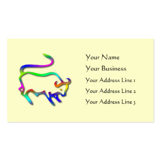 Taurus Zodiac Star Sign Color Line Business Card