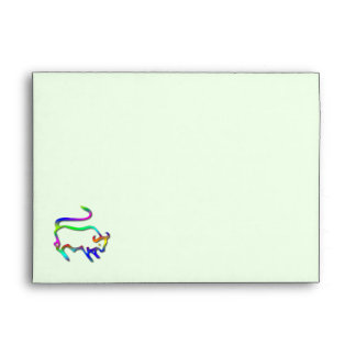 Taurus Zodiac Star Sign Color Line Envelope