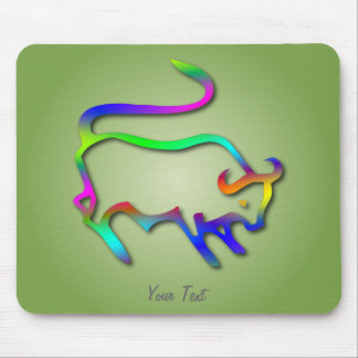 Taurus Zodiac Star Sign Color Line Mouse Pad
