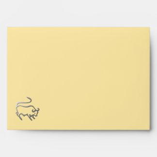 Taurus Zodiac Star Sign In Light Silver Envelope