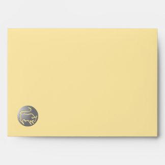 Taurus Zodiac Star Sign Silver Premium Envelope