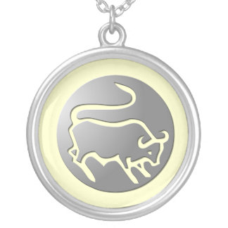 Taurus Zodiac Star Sign Silver Premium Silver Plated Necklace