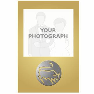 Taurus Zodiac Star Sign Silver Premium Standing Photo Sculpture