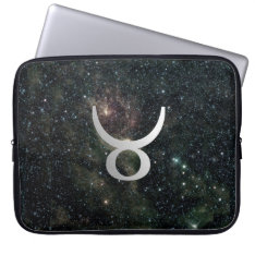 Taurus Zodiac Star Sign Universe Computer Sleeve at Zazzle