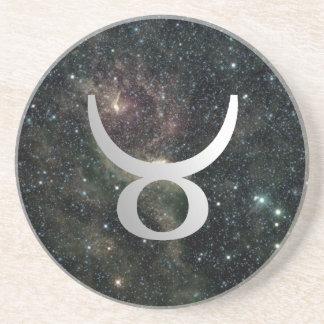 Taurus Zodiac Star Sign Universe Drinks Sandstone Coaster