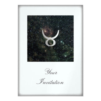 Taurus Zodiac Star Sign Universe Party Event Card