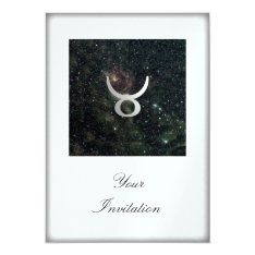 Taurus Zodiac Star Sign Universe Party Event Card at Zazzle