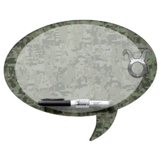Taurus Zodiac Sybol on Olive Green Digital Camo Dry-Erase Board