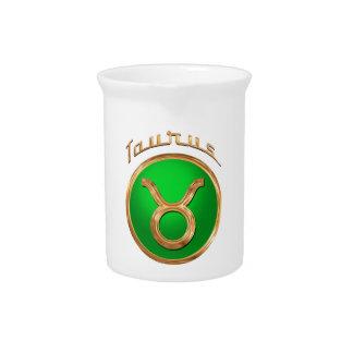 Taurus Zodiac Symbol Beverage Pitcher