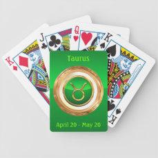 Taurus Zodiac Symbol Bicycle Playing Cards