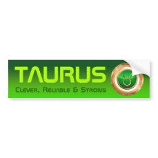 Taurus Zodiac Symbol Bumper Sticker