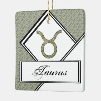 Taurus Zodiac Symbol Element Ceramic Ornament