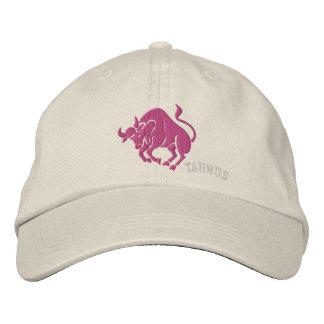 Taurus Zodiac Symbol Embroidery Embroidered Baseball Hat