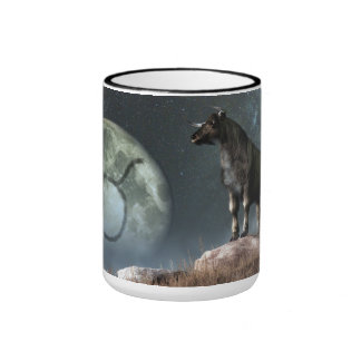 Taurus Zodiac Symbol Ringer Coffee Mug