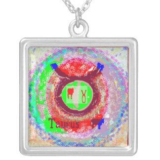 TAURUS Zodiac Symbol Silver Plated Necklace