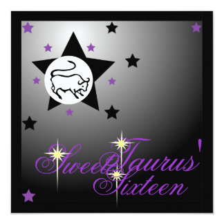 Taurus' Zodiacal Fortune Sweet Sixteen-Customize Card